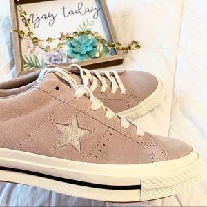 NEW Converse One Star Metallic Suede Sneaker